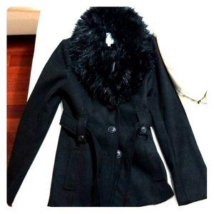 NWOT BB Dakota Faux Fur Coat